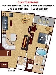 One Bedroom Suites Orlando Bay Lake Tower At Disneys Contemporary Resort 1 Bedroom Villa