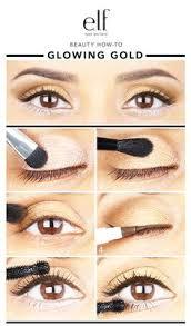 how to make glowing gold eye makeup tutorial