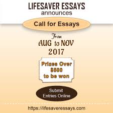 lifesaver essay competition applications open