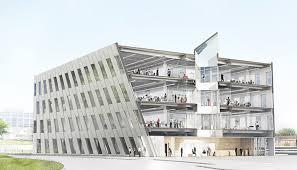 office building facade. Photo Credit: Rasmus Hjortshoej Courtesy Of Bjarke Ingels Group Office Building Facade
