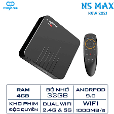 Android Tivi Box Magicsee N5 Max - Ram 4GB. Rom 32GB Android 9.0 - Điều  khiển Voice search