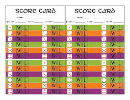 Bunco Score Sheets Template Delectable Halloween Bunco Printables