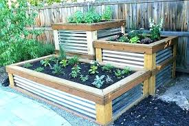 corrugated metal garden beds corrugated metal raised beds awesome good patio vegetable garden containers bed boxes corrugated metal garden