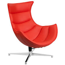 red leather chair. Contemporary Leather Flash Furniture Red Leather Swivel Cocoon Chair Intended