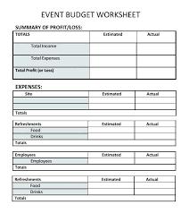 Sport Budget Template Church Event Budget Template