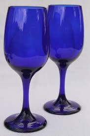 libbey premiere cobalt blue glass white wine glasses or water goblets libbey cobalt blue wine glasses