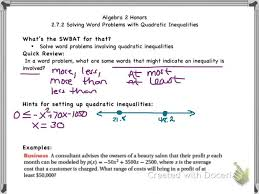 2 7 2 word problems with quadratic inequalities you