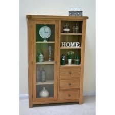 oak tv cabinet glass doors combination display with storage and door