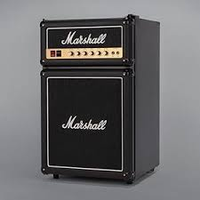 The Marshall Fridge proudly features authentic Marshall amp parts and is  the ultimate combination of rock and refrigeration.