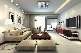Lighting Living Room Simple Wall Paint Ideas With A Sienna Color Decorated Excellent White For Livingroom Decor Spot Lights Also Down Light Plus Concealed Interior Design Wall