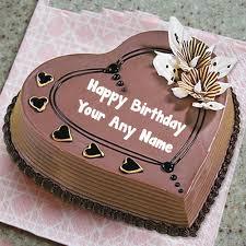 Chocolate Birthday Cake On Name Wishes Status Edit Photo
