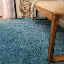 maxy home collection french blue area rug single solid color 5 x 7 5 for