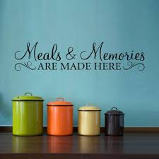 ... Wooden Wall Letters Decoration Ideas Mesmerizing Meals Memories Decal  Kitchen Quote Wall Decal Meals And Memories ...