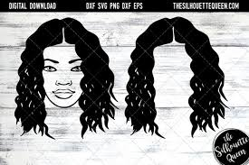 Black woman with afro silhouette. African American Svg The Silhouette Queen Design Bundles