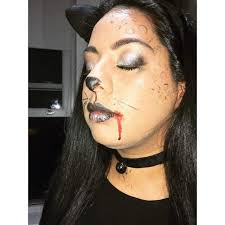 blood dropping from the mouth cat makeup