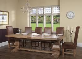 Quality Oak Bedroom Furniture Windermere Rustic Oak Extending Monastery Dining Table Oak