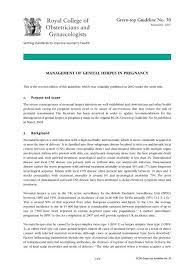 management of herpes in