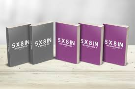 6 x 9 book with dust jacket mockup 5 x 8 multi paperback book presentation mockup