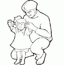 Disegno Da Colorare Per Bambini Papà Con Il Suo Bambino Disegni Da