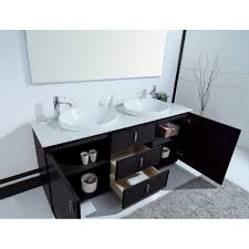 cheshire  inch modern double sink vanity faux marble top