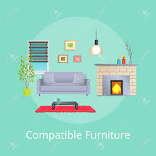 compatible furniture. Beautiful Furniture Compatible Furniture In Modern Design Living Room Stock Vector  106743259 With S