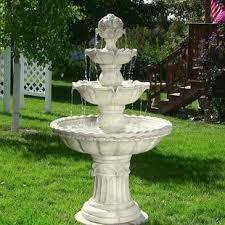 garden fountain. Exellent Garden Dunkle Fibreglass 4Tier Electric Water Fountain Intended Garden A