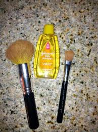 cleaning makeup brushes with baby shoo i actually asked an employee at bare minerals