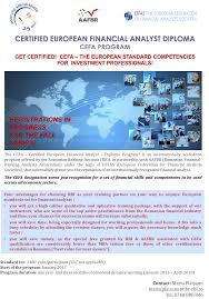 certified european financial analyst diploma program institutul certified european financial analyst diploma program institutul bancar romacircn
