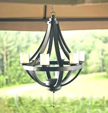 antique outdoor candle chandelier non electric
