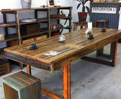 O Recycled Industrial Furniture Simple Table  Timber And Steel In Furniture N