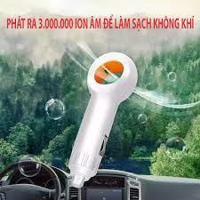 Công Nghệ USA] Máy Lọc Không Khí Ô Tô Ion Âm EP501 Mini 12v Khử Mùi Hôi, Lọc  Bụi Mịn PM2.5, Các Chất Gây Dị Ứng