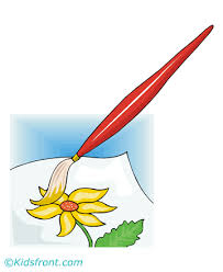 Small Picture Paint Brush Coloring Pages for Kids to Color and Print