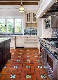 spanish style floor tiles style kitchen features 3 light windows terracotta floor with glazed accent inserts spanish style floor tiles