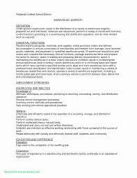 Elegant Warehouse Worker Resume Warehouse Worker Resume