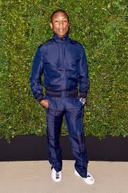 chanel tracksuit. pharrell williams wears chanel track suit and x adidas nmd human race sneakers tracksuit