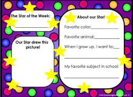 Number Of The Week Flip Chart Freebie Star Of The Week Flipchart Classroom Management