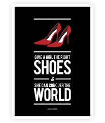 Lab No 4 Right Shoes For Girl Marilyn Monroes Style Quotes Poster