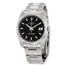rolex oyster perpetual date 34 black dial stainless steel rolex rolex oyster perpetual date 34 black dial stainless steel rolex oyster automatic men s watch 115200bkso