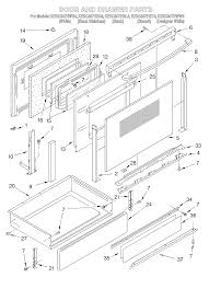 kesc307hbt4 electric slide in range door and drawer parts diagram oven chassis parts diagram