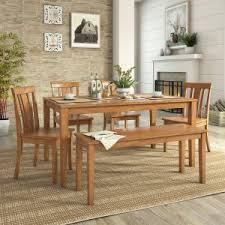 cottage dining room tables. Weston Home Lexington 6 Piece Dining Set With Bench And Slat Back Chairs Cottage Room Tables