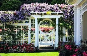 white lattice fence decorative garden fencing white wood lattice fence with flowers in garden decorative garden fencing ideas