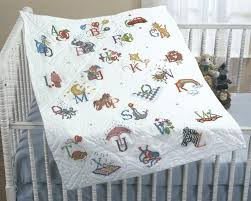 Cross Stitch Quilt Kits - Quilting-Warehouse & Stamped Cross Stitch Baby Quilt Top Alphabet Dreams Adamdwight.com