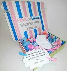 Boy Or Girl Baby Announcement New Baby Pregnancy Announcement Surprise Gift Box Gender