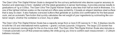 amazon com ozeri ultra thin professional digital kitchen food