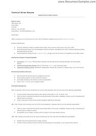 Technical Writing Resume Examples How To Write Technical Resume
