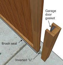 door draft seal install the seal on the barn doors edge door draft seal