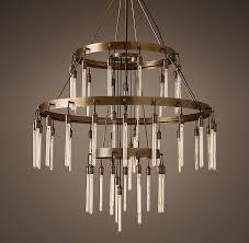 axis 3 tier filament bulbs chandelier restorationhardware com