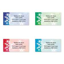 Snowflake Colored Dreams Assorted Sheeted Address Labels