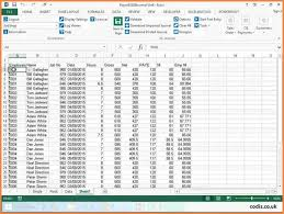 Salary Calculator In Excel Free Download Payroll Excel Spreadsheet Free Download Sheet Format Indian