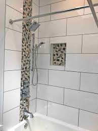 bathroom remodel washington dc. Matching Accent Pebble Tiles On Shower Wall Bathroom Remodel Washington Dc